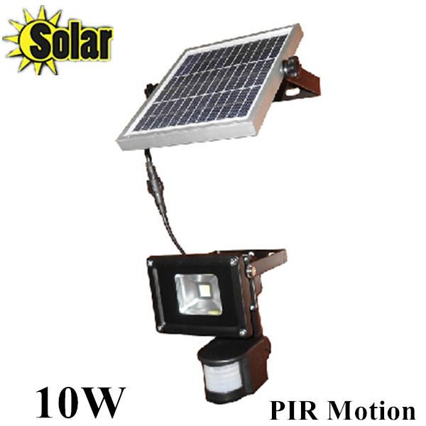 New 10W PIR Reflector Infrared LED Human Motion Sensor Floodlight Outdoor Spotlight Solar battery charging garage lamp(China (Mainland))