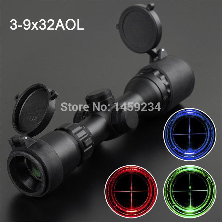 SNIPER Shockproof LLL Riflescope 3-9X32 for hunting Telescopic Sight Reflex Sight Gunsight Riflescope Free Shipping