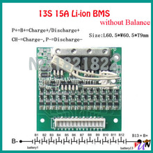 13S 15A 48V li-ion BMS PCM battery protection board 54.6V bms pcm without balancing for lithium ion li battery 48V(China (Mainland))
