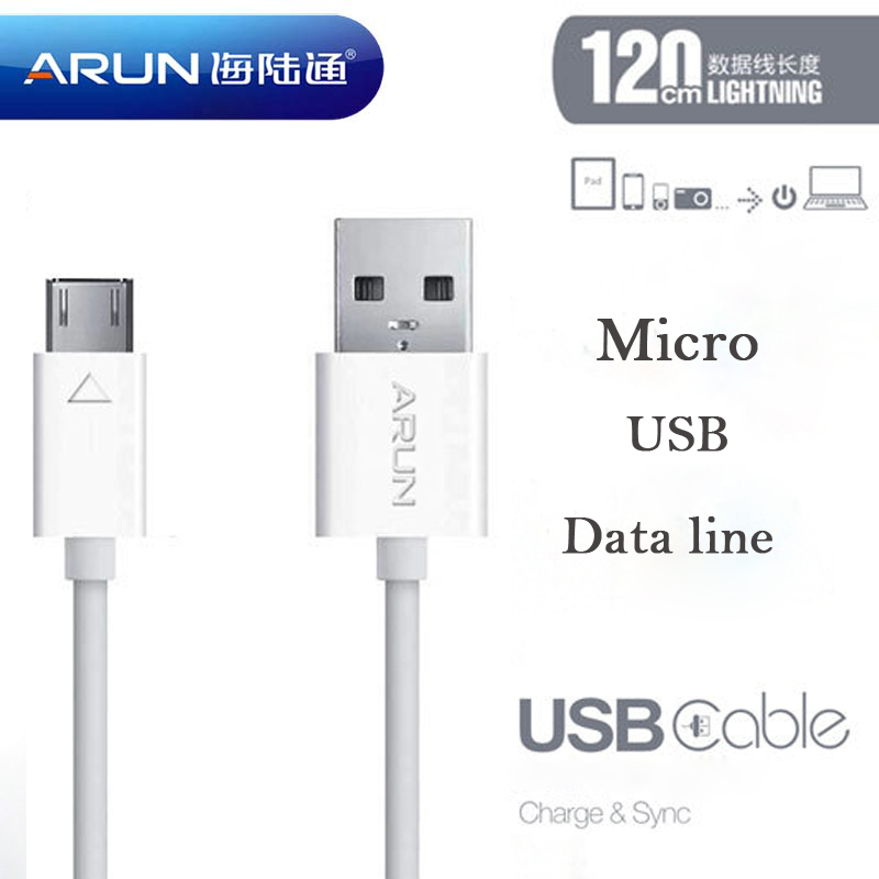 2015 sale Free shipping High Quality Original micro usb cable/Chargeing Cable II 120CM White and black For Android or Windows(China (Mainland))
