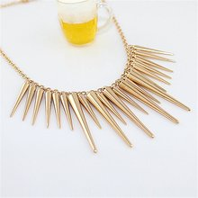 Steampunk Rivet Statement Necklace Gold Silver Plated Necklaces & Pendants Link Chain Jewelry Collar For Gift Party