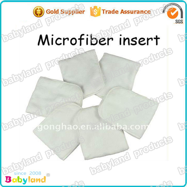 40 pieces/lot Washable babyland cloth diaper Microfiber insert liners(China (Mainland))