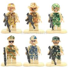 Action Figure SWAT Minifigures 6pcs/lot Building Blocks Sets Model Bricks Toys For Children