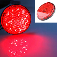 2pcs LED Round Reflector Tail Brake Stop Marker Light Indicator Truck Trailer Car New(China (Mainland))