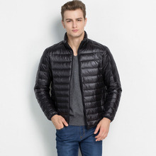 brand-clothing winter jacket Ultralight Casual Men Down goose Jacket 3XL 4XL Winter Duck Down Coat Down Parkas Outerwear MK88(China (Mainland))