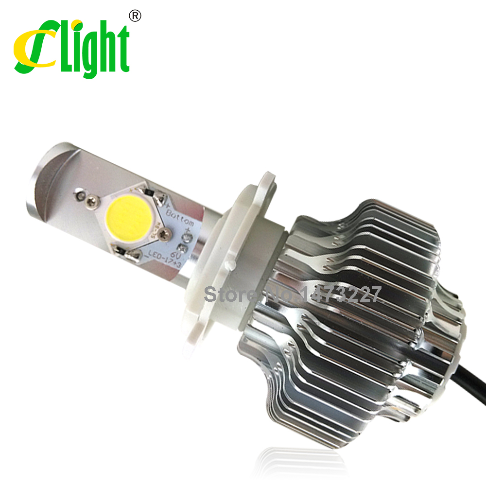2015 New H4 H6 H7 20W 2500LM LED Motorcycle Headlight Bulb Headlamp High Low Conversion Beam Driving Headlamp Moto Lights
