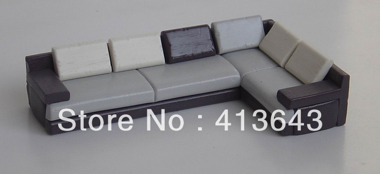 6pc 1 25 scale model mini sofa layout dolls house train Scale model furniture