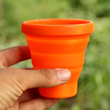 Hot Sale Fire Maple FMP-319 Outdoor Camping Silicon Folding Mug Portable Cup Bottle 200ml 44g Free Shipping(China (Mainland))
