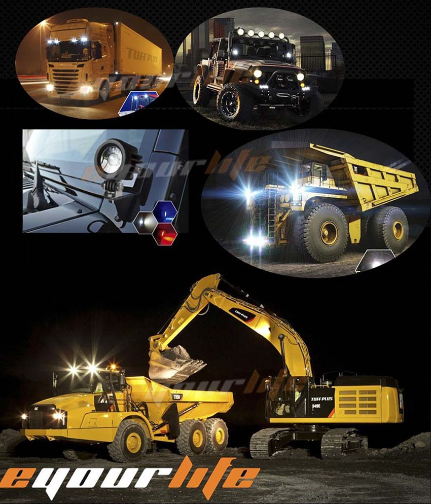 Купить Eyourlife 3 дюймов 20 Вт 12 В 24 В offroad Площади светодиодный свет работы бар для atv бездорожью polaris rzr wrangler барра 4x4 грузовик vtt