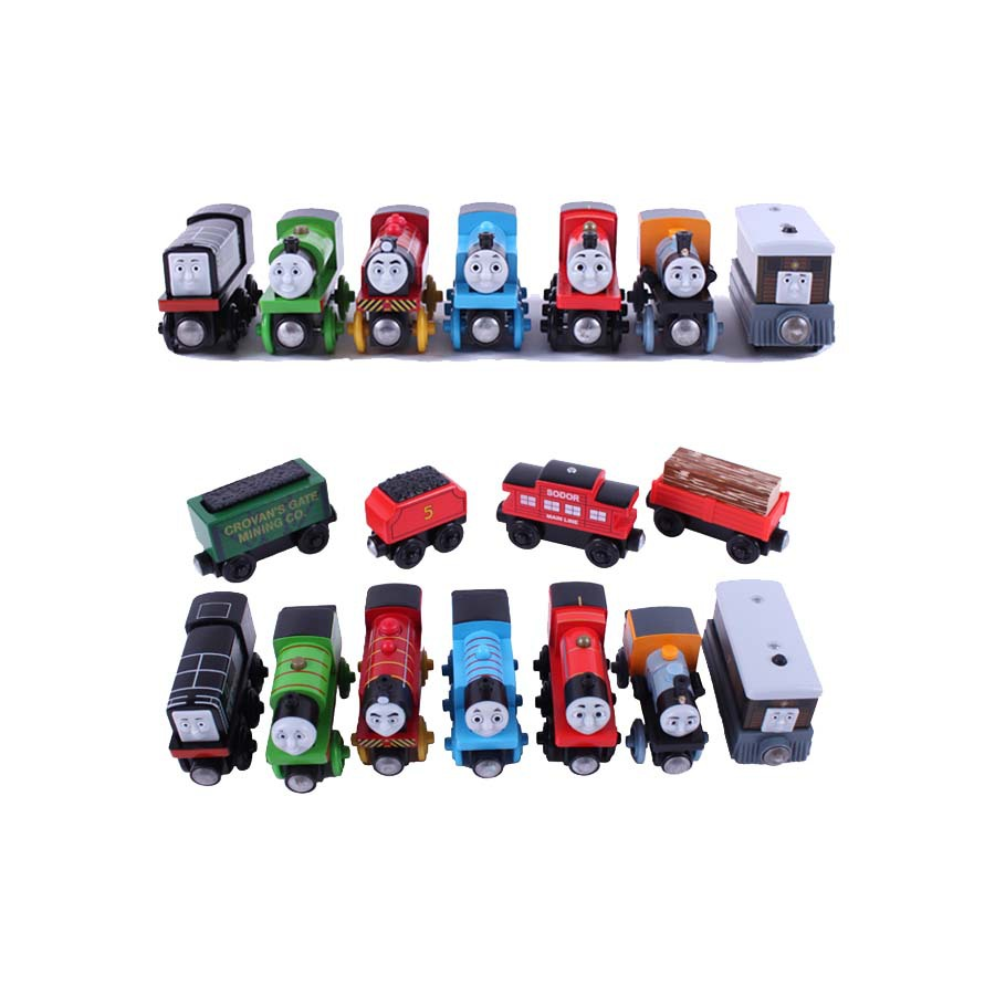 10pcs/lot Magnetic wooden Tomas and Friends small Train toys railway set(China (Mainland))