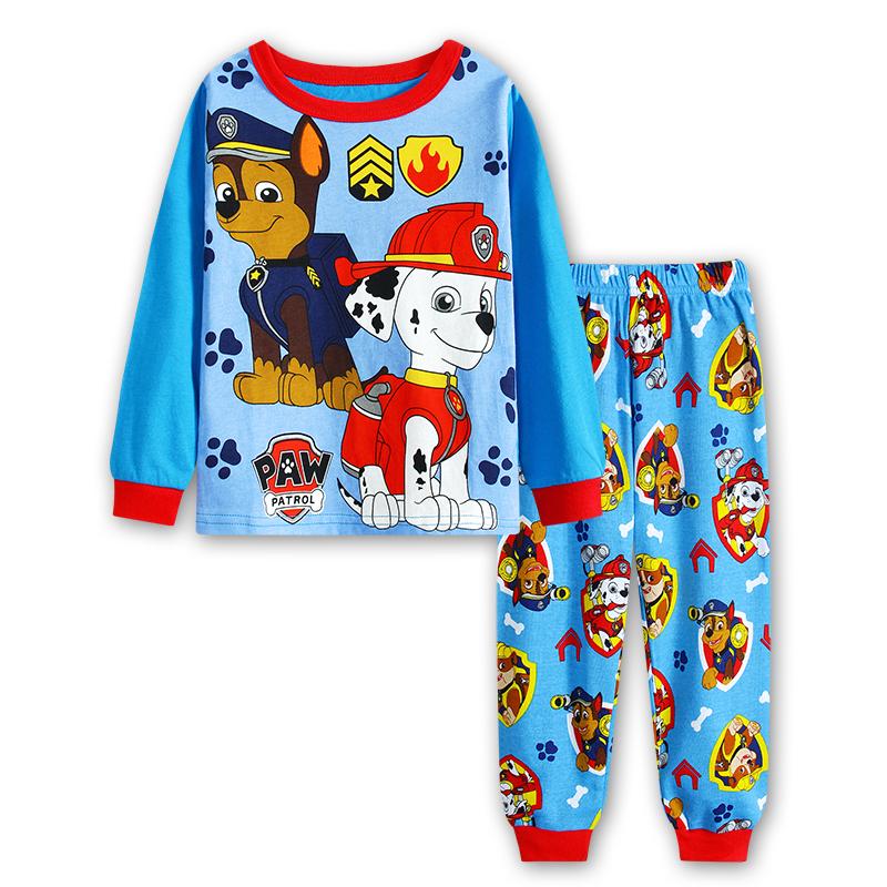 Cartoon Dogs pajamas cartoon children 's pajamas long - sleeved autumn children' s cotton pajamas sleepwear kids H00269