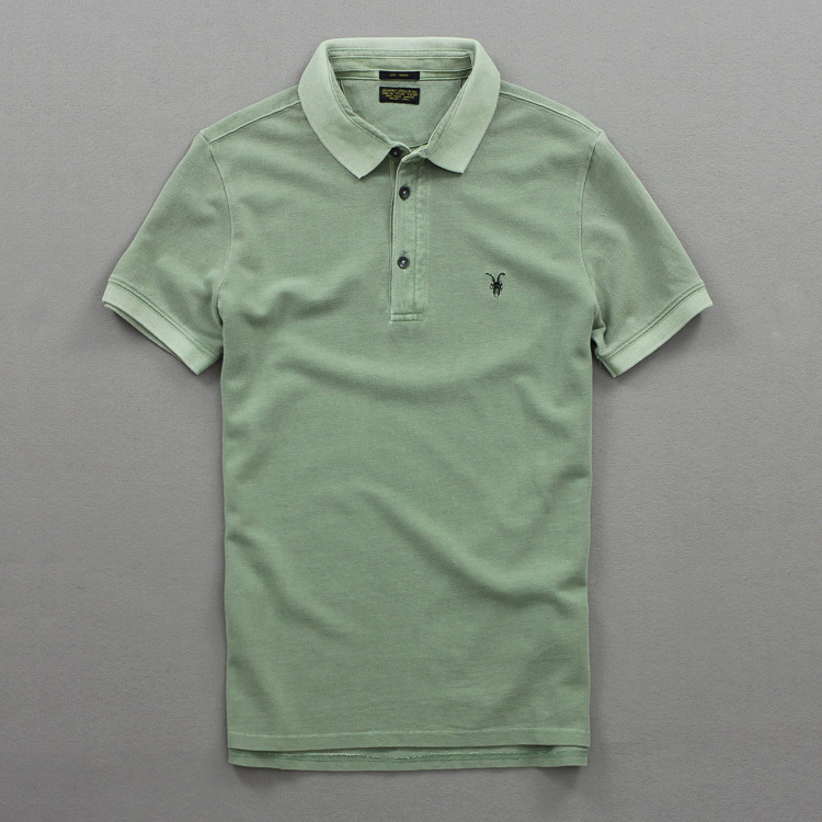 2015 Free shipping new All Saints Sheepshead Heavy Washing To Do The Old Mens Short-Sleeved POLO Shirt Lapel WildОдежда и ак�е��уары<br><br><br>Aliexpress