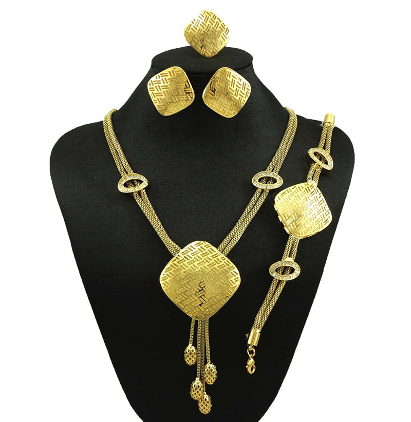 african party jewelry sets women fashion jewelry sets gold filled fashion women necklace fine new jewelry(China (Mainland))