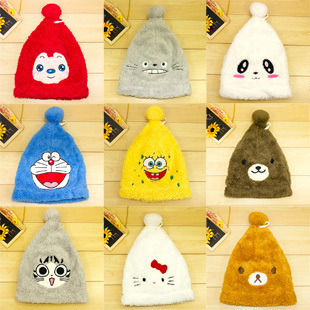 Winter thickened adult cartoon cute stuffed animal Christmas hat free shipping(China (Mainland))