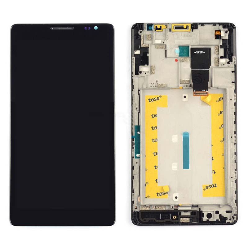 +Frame Black LCD Display + Touch Screen Digitizer Assembly Replacement For Huawei Ascend Mate 1 MT1-U06 Free Shipping