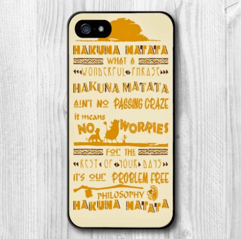 Meaning Hakuna Matata Protective Cover Plastic Case Samsung Galaxy S5 S4 S3 Mini Note 4 3 - New Swell store