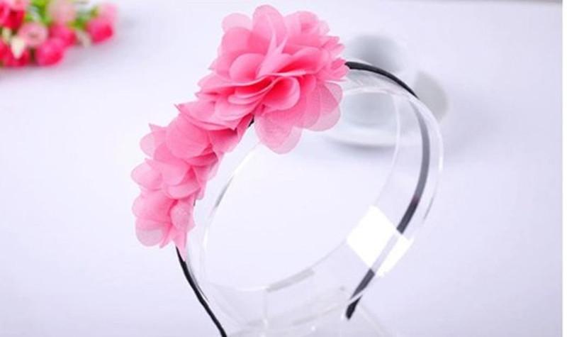 Girl Accessories Hair Headband Pretty Flower Design Girl Hoops Girl Hair Accessories Princess Baby Hair Accesories(China (Mainland))