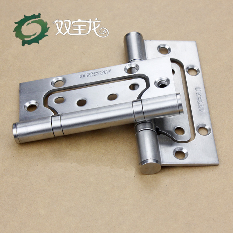 2 Pcs/Lot 4 in Bi-Fold Door Mute Hinges Stainless Steel Polished Thick / 3 cm Combined Hinge(China (Mainland))