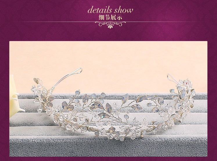 Ручной кристалл принцесса тиара венец серебряная свадьба аксессуары для волос свадебный повязка на голову горный хрусталь женщины диадемы