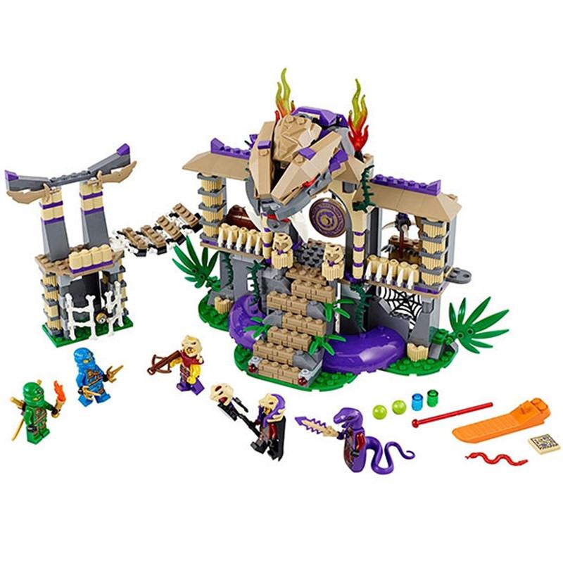 528pcs BELA 10324 Ninjagoed Enter The Serpent Lloyd Jay Kapau'rai Minifigures Building Blocks Figures Toys Compatible With Lego(China (Mainland))
