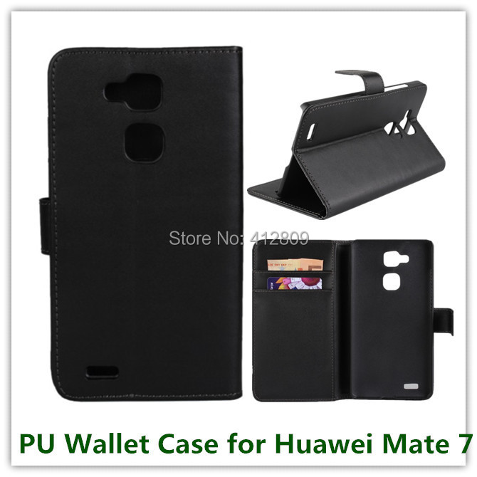 10PCS New Fashion PU Leather Slot Stand Pouch Money Wallet Cover Case for Huawei Ascend Mate 7 with ID Card Holder Free Shipping
