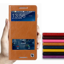 Hot!!! For HTC Desire 820 High Quality Genuine Leather Smart Cover Case Window Luxury Flip Stand Mobile Phone Bag