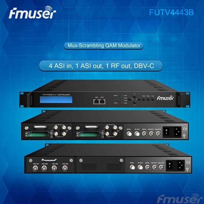 FUTV4443B 4 in 1 Mux-Scrambling QAM Modulator(optional 4*ASI/Tuner in, 4*RF out)adapting CATV system(China (Mainland))