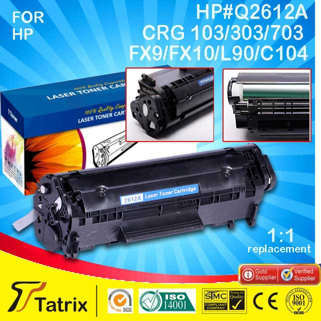 Q2612A 12a 2612A 2612 12 toner cartridge HP LaserJet 1010 1012 1015 1018 1020 1022 3010 3015 3020 3030 3050 3052 - Tatrix International China Co., Ltd. store