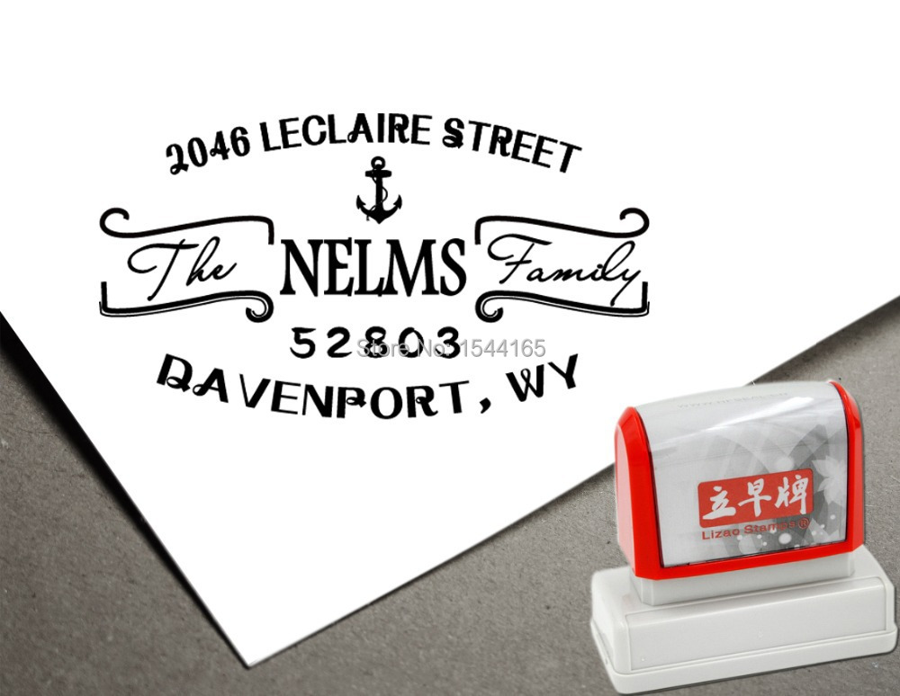 Calligraphy Custom Return Address Stamp Personlized Stamp