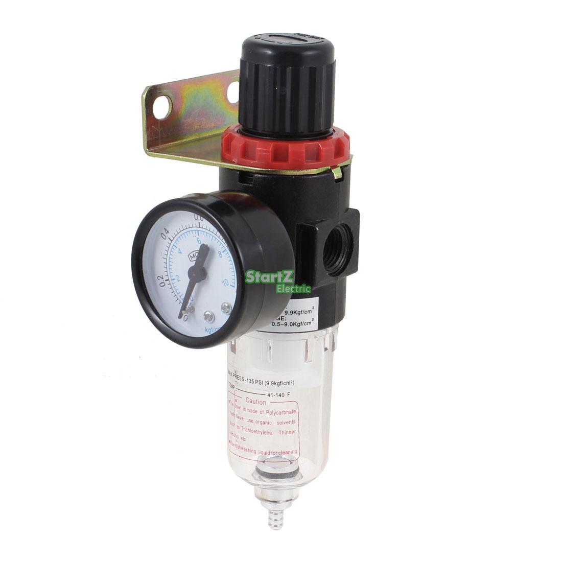 AFR-2000 Pneumatic Filter Regulator Air Treatment Unit w Pressure Gauge