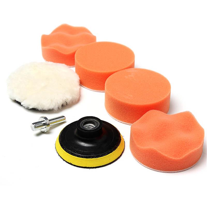 New Arrival 6pcs 3 Inch High Gross Polishing Buffer Pad Set + Drill Adapter--For Car polish 3inch(China (Mainland))