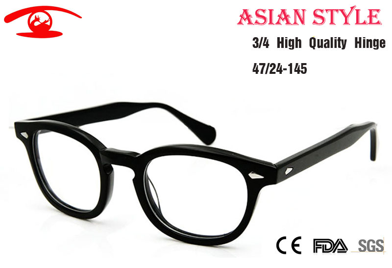 new high quality johnny depp glasses asian style high bridge round retro vintage glasses frame men
