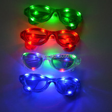 Free shipping 2pcs/lot 10pcs light 3mode led eyeglass led glasses luminous gift party mask  for party supplies(China (Mainland))