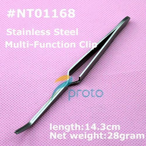 10pcs Stainless Steel Multi-Function Nail Clip Manicure Nail Art Tool Tweezer for Acrylic & UV Gel Nail Art Tips SKU:F0049X