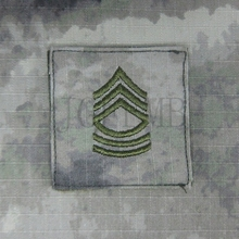 A-TACS AU Green design US ARMY E-8 Msg Master Sergeant Rank Military tactics morale Airsoft Embroidery patch B2905 - Yu&Jia Patch Factory store