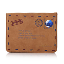 laptop bag case fashionable Retro Vintage Envelope Design Leather Case Bag for Mouse and Charger notbook free shipping(China (Mainland))