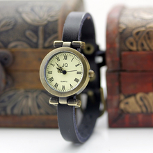 New fashion hot-selling women's leather strap watches female ROMA vintage watch women dress watches