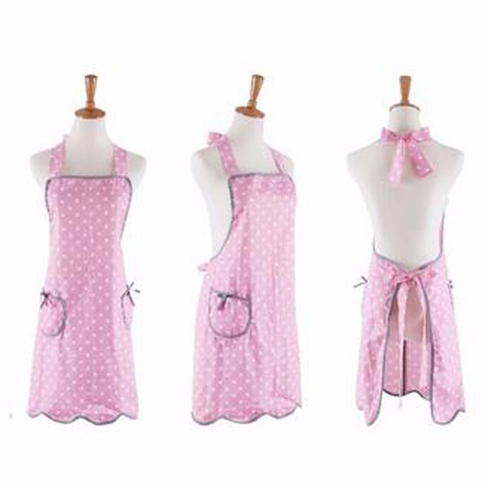 10Pcs/lot Vintage Retro Women Kitchen Apron Cooking Cotton Floral Apron Free Shipping(China (Mainland))