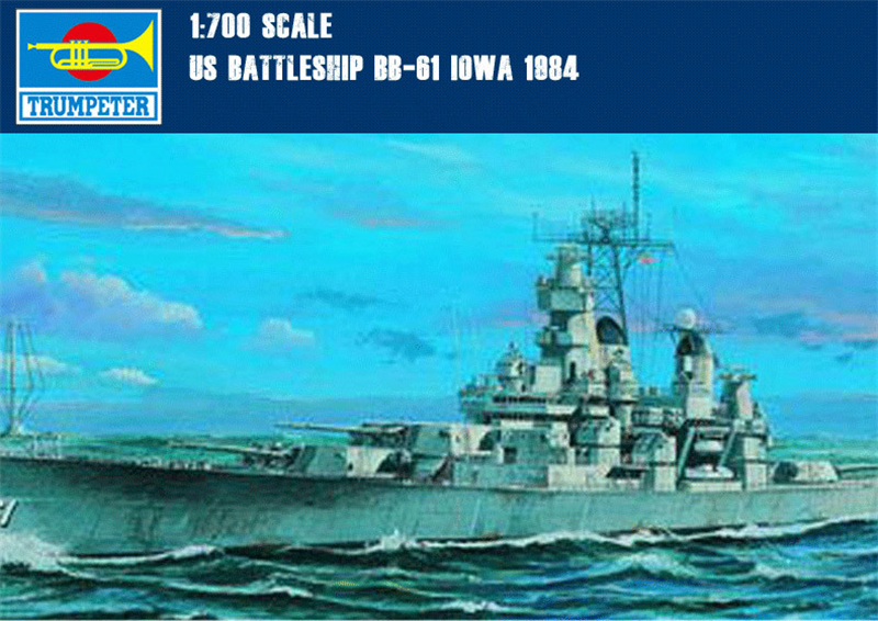 Trumpeter 1/700 Scale US BB-61 Iowa Battleship 1984 Static Warship 05701 Same Model as WOWS(China (Mainland))