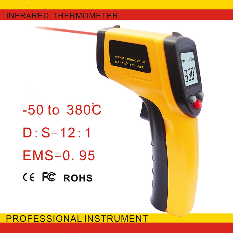 Temperature Gun Non-contact Digital Laser Infrared Ir Thermometer (-50 ~ 330) Instant-read Handheld electronic thermometer(China (Mainland))