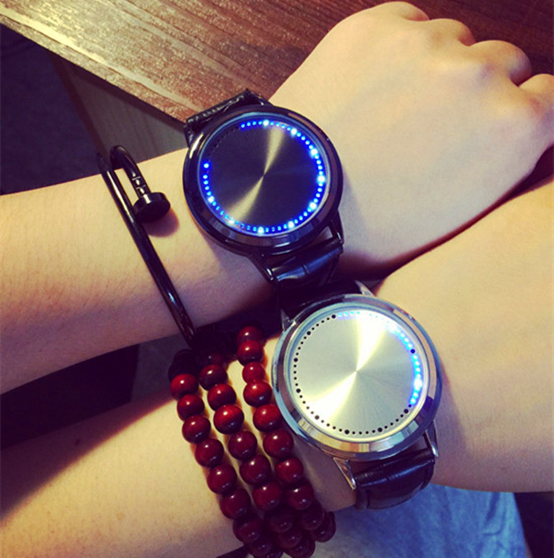 Men Women Sport Digital Watch Female Male Wristwatches Digital LED Touch screen watch lovers watches 4 design supply(China (Mainland))
