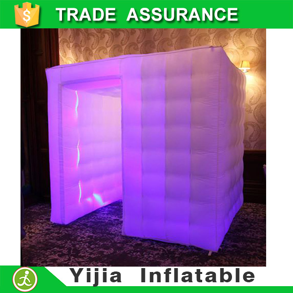 2.4*2.4*2.4m inflatable portable photo booth case with LED strip(China (Mainland))