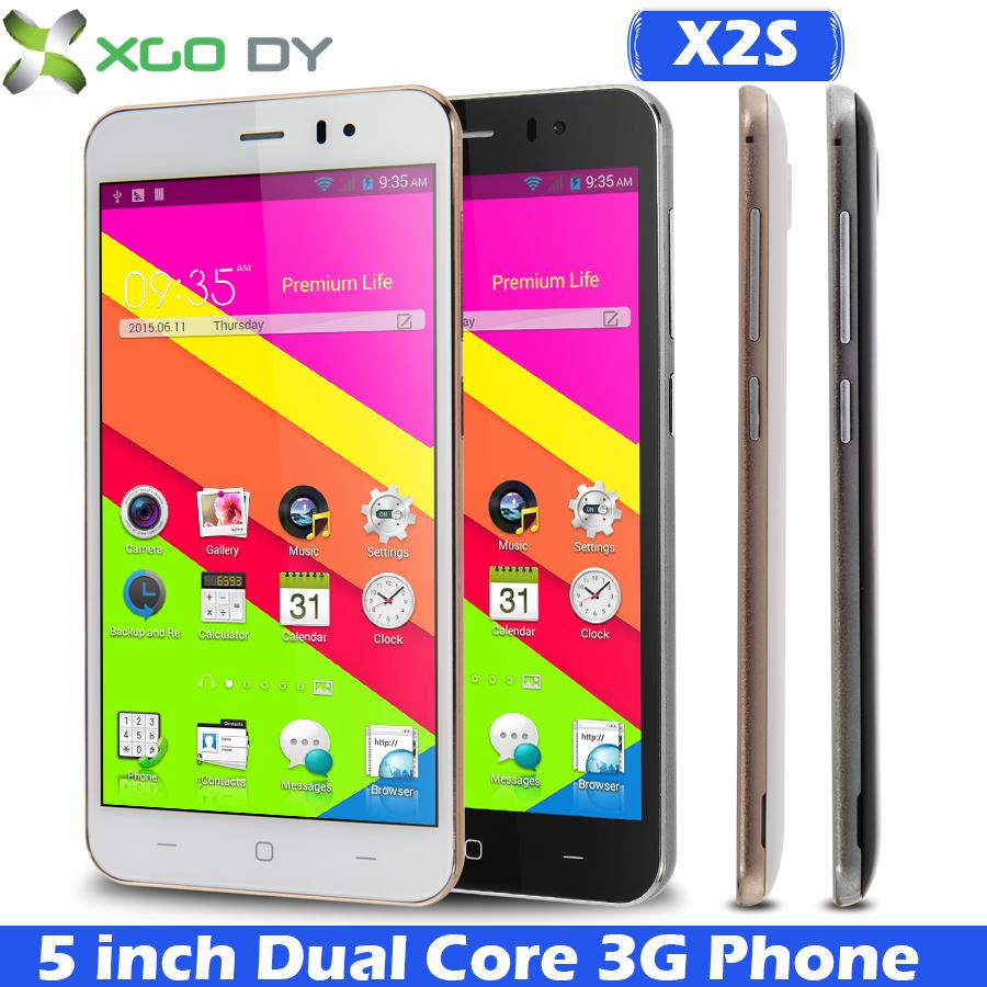 Original XGODY X2S QHD 5 Inch Android 4.4 Dual Core Cheap Mobile phone GSM 3G WCDMA GPS Dual SIM SmartPhone AU UK US Stock(China (Mainland))