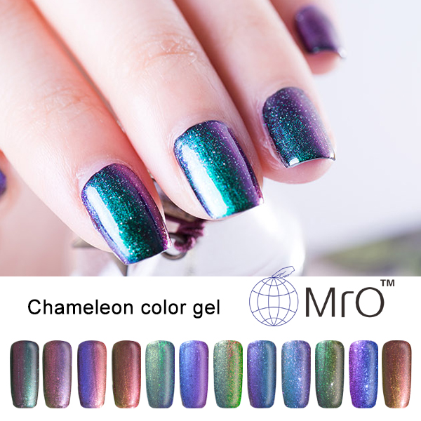 2016 New Arrival Mro uv color unhas de gel nail polish is a chameleon esmaltes permanentes de uv nail polish that changes color(China (Mainland))