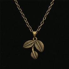 Nowy w stylu Vintage łańcuch Collares Choker Kolye naszyjnik anioł skrzydło liście wisiorek naszyjnik mężczyzn biżuteria damska Bijoux Accesorios Mujer(China)