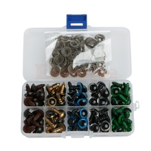 New 100pc 12mm Plastic Safety Eyes For Bear Doll Animal Puppet Craft 5 Colors(China (Mainland))
