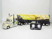1:32 radio control 6CH plastic container rc trailer truck(China (Mainland))