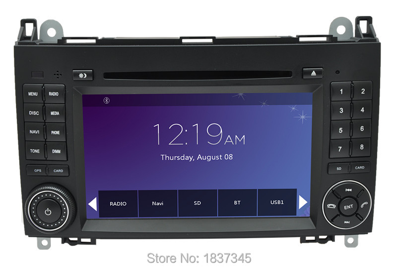 "7"" 2 din car dvd player for Mercedes Benz vito and sprinter with raido,bluetooth ,gps,rds,sd,usb,can play music from iphone6s(China (Mainland))"
