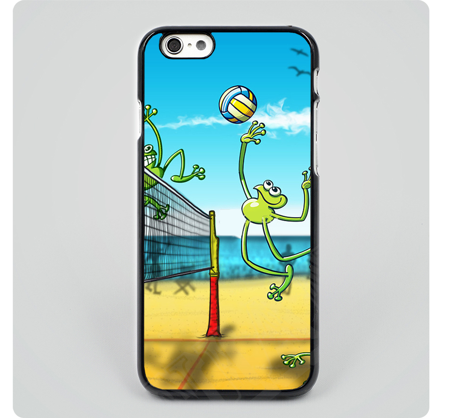 Olympic Volleyball Frog black hard skin mobile phone cases cover housing for iPhone 4 4s 5 5s 5c 6 6 plus free shipping(China (Mainland))