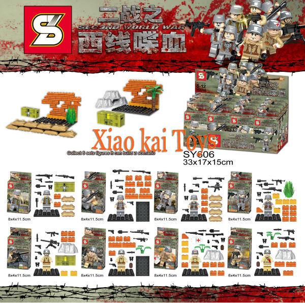 8Pcs/set 2016 Hot Sales Building Blocks Second World War Germany West Line Military Series Minifigures Bricks Mini Figure - Xiao Kai Shops store
